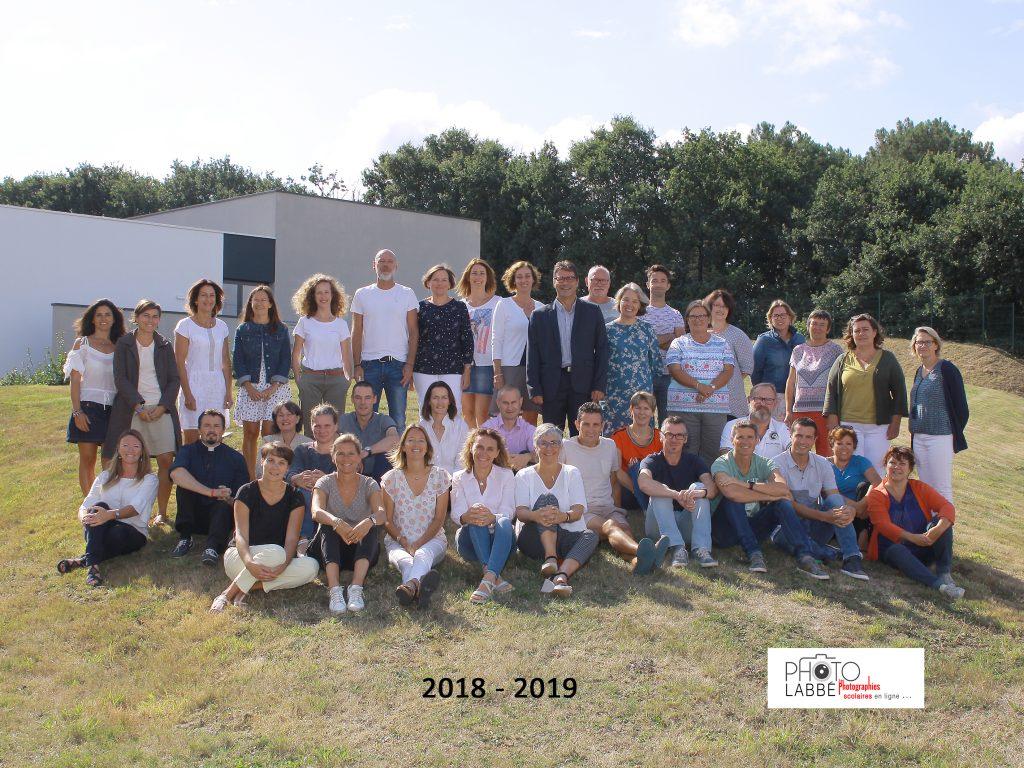 Equipe personnels du collège rentrée 2018